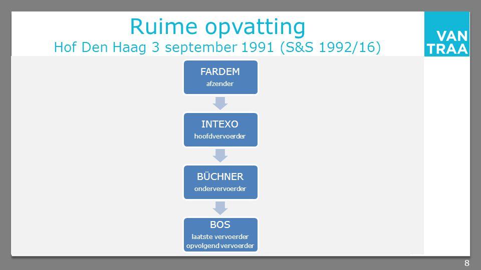 Ruime opvatting Hof Den Haag 3 september 1991 (S&S 1992/16)