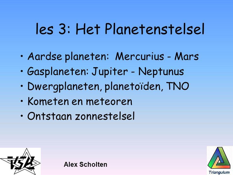 les 3: Het Planetenstelsel
