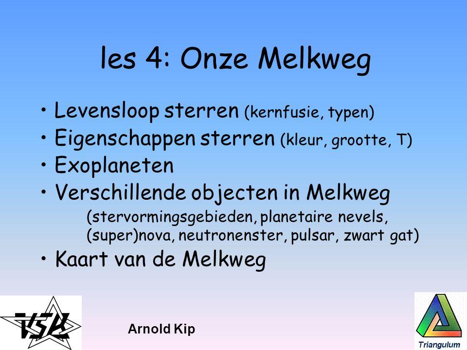 les 4: Onze Melkweg Levensloop sterren (kernfusie, typen)