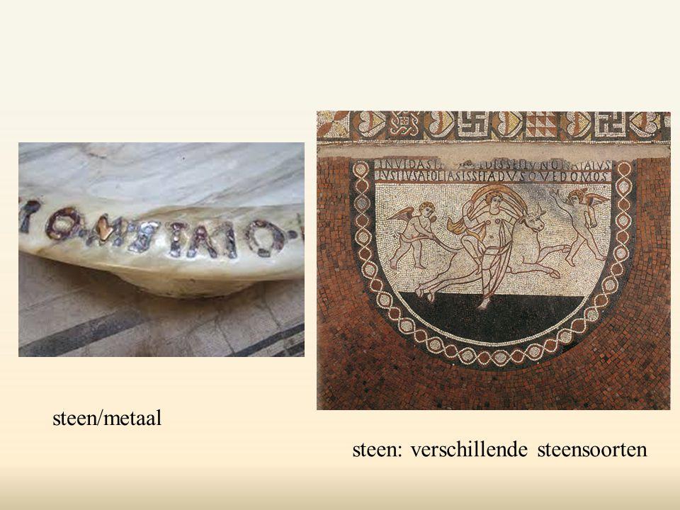 steen/metaal steen: verschillende steensoorten