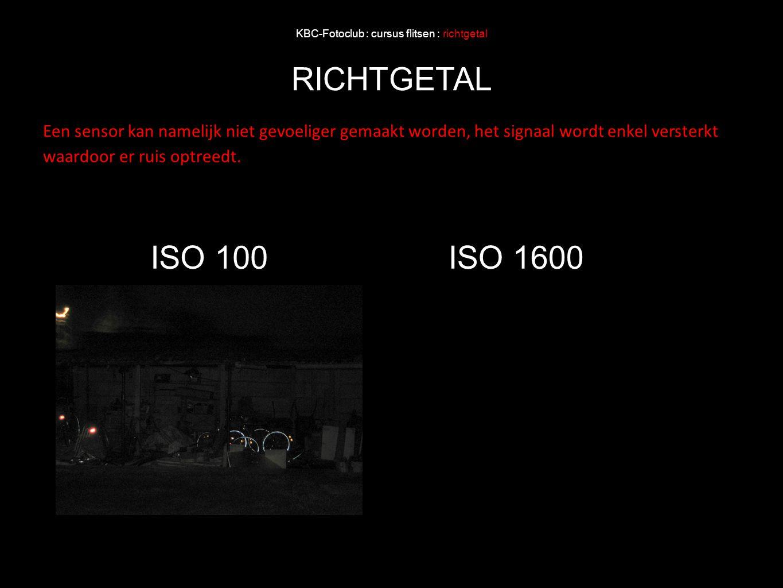 KBC-Fotoclub : cursus flitsen : richtgetal