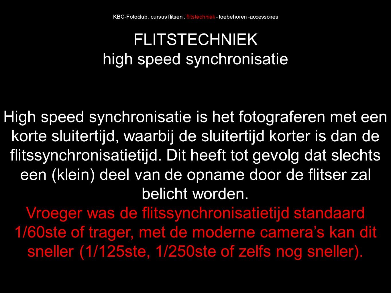 high speed synchronisatie