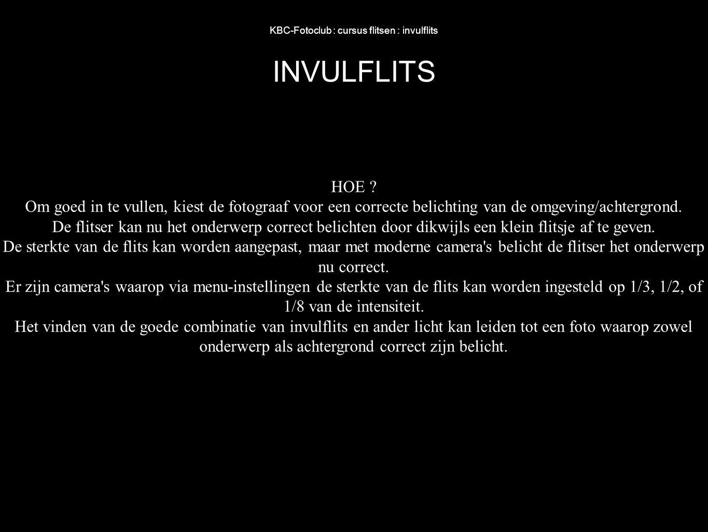 KBC-Fotoclub : cursus flitsen : invulflits