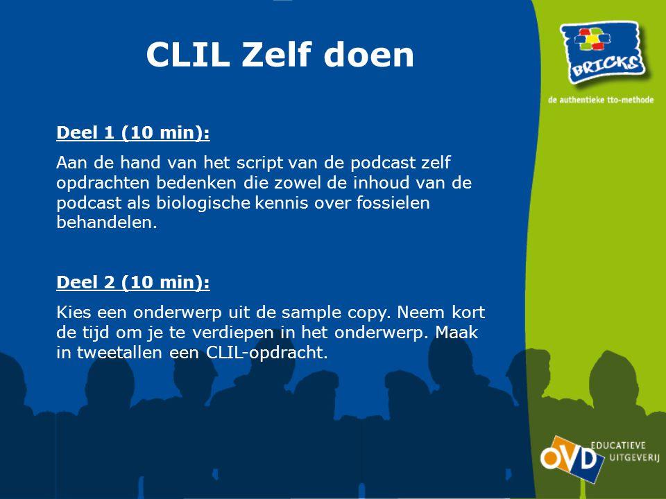 CLIL Zelf doen Deel 1 (10 min):