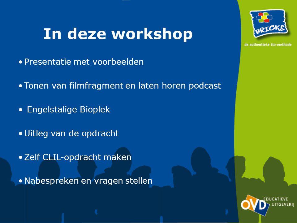 In deze workshop Presentatie met voorbeelden