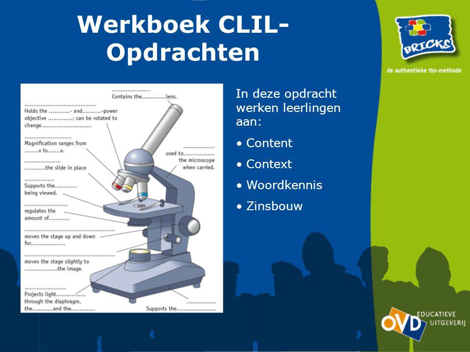 Werkboek CLIL- Opdrachten