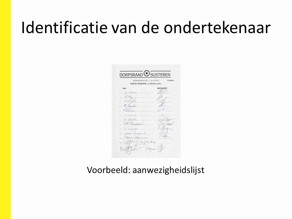 Identificatie van de ondertekenaar