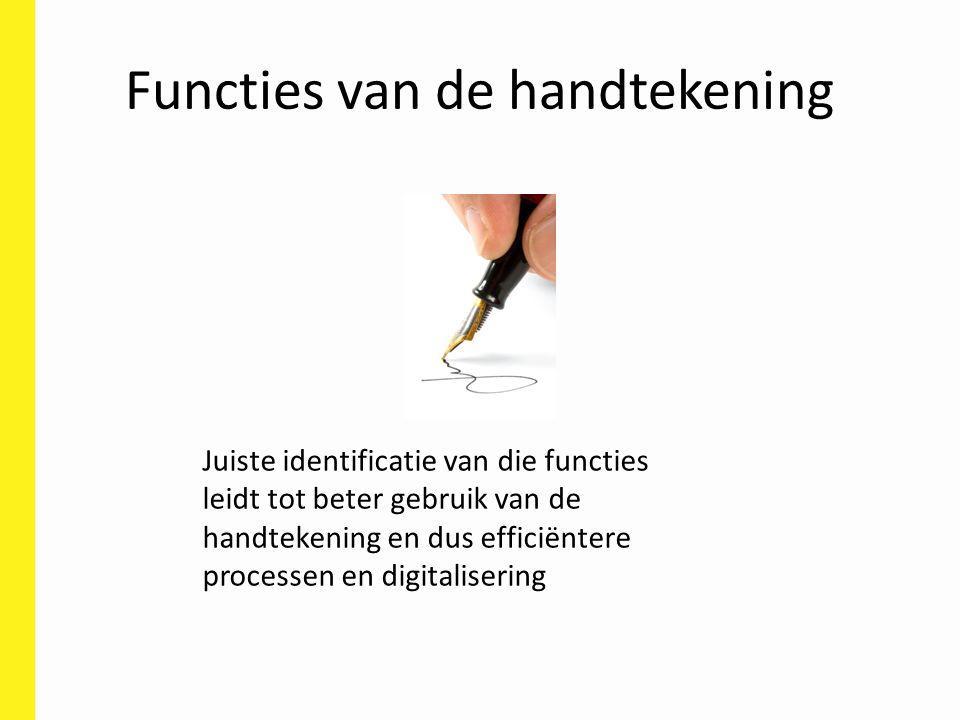 Functies van de handtekening