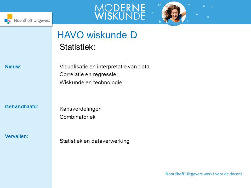 HAVO wiskunde D Statistiek: Visualisatie en interpretatie van data