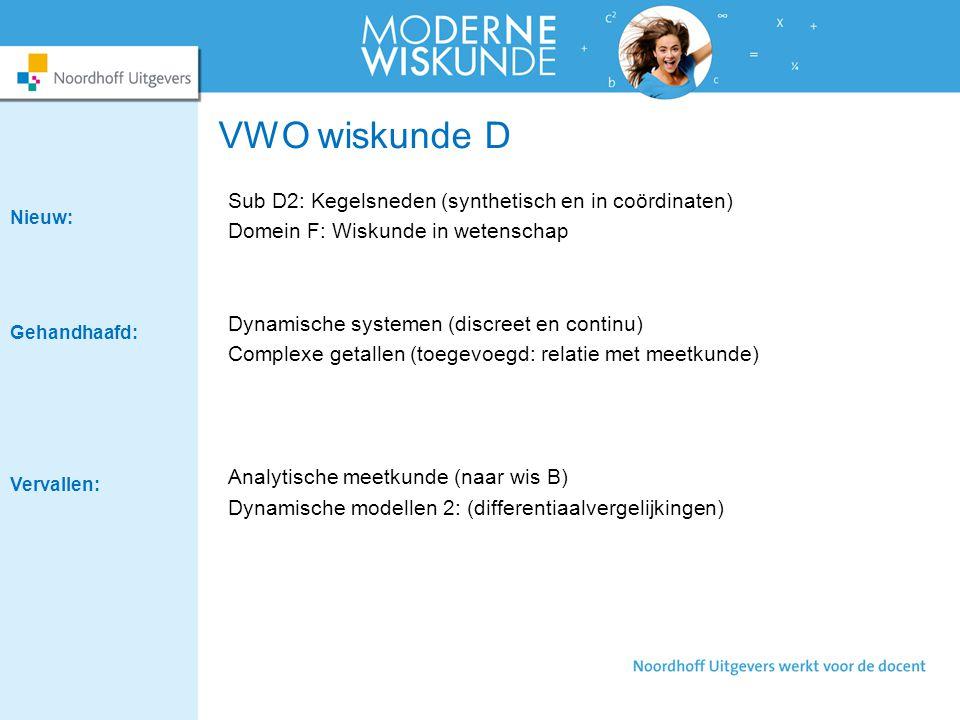 VWO wiskunde D Sub D2: Kegelsneden (synthetisch en in coördinaten)