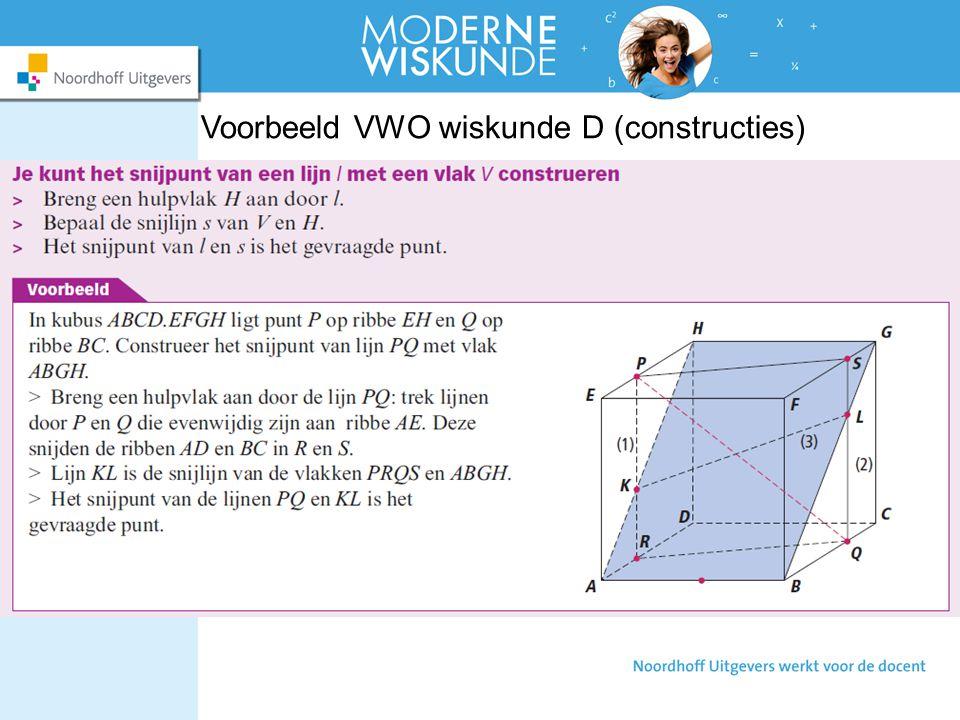 Voorbeeld VWO wiskunde D (constructies)
