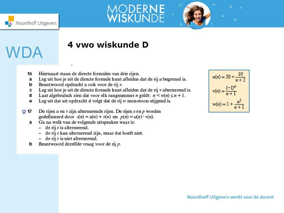 WDA 4 vwo wiskunde D