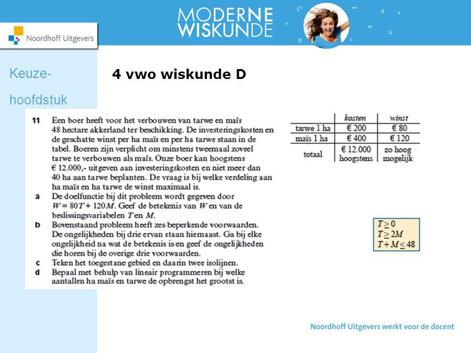 Keuze- hoofdstuk 4 vwo wiskunde D