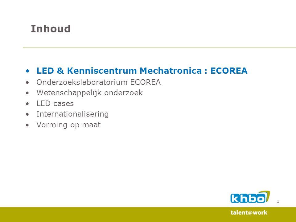 Inhoud LED & Kenniscentrum Mechatronica : ECOREA