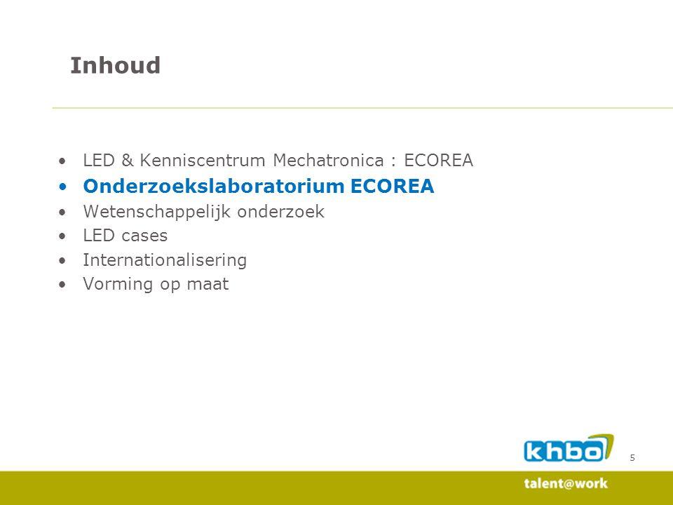 Inhoud Onderzoekslaboratorium ECOREA