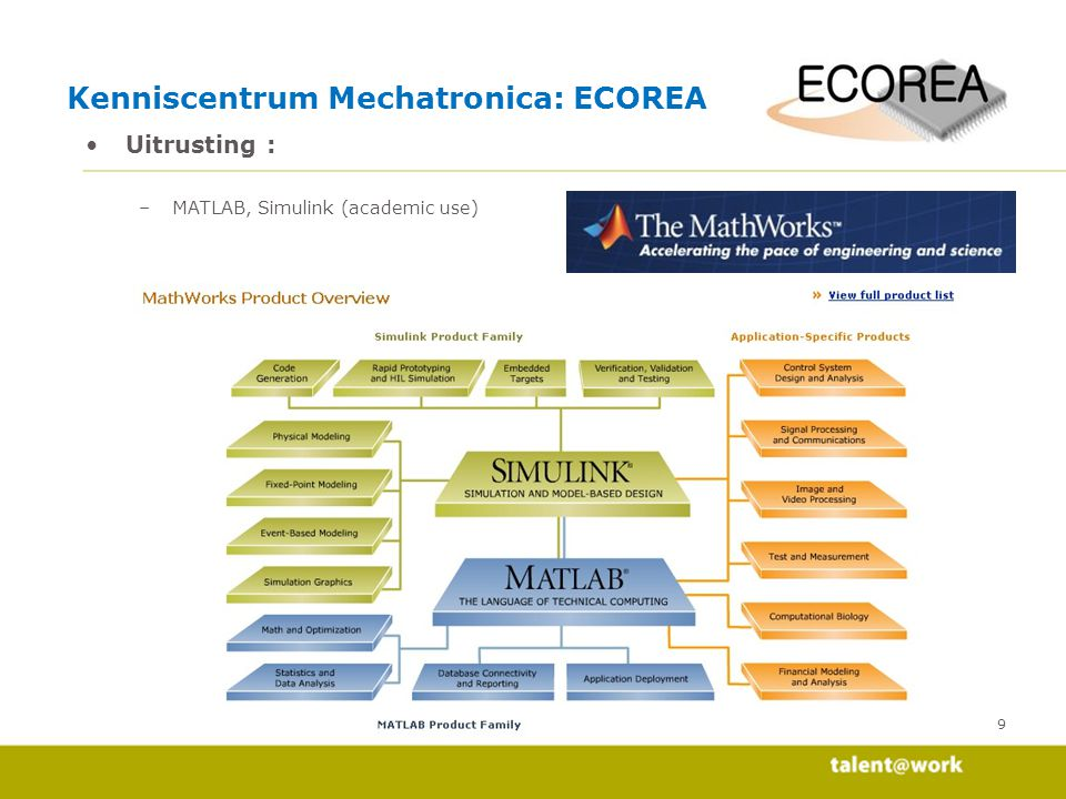 Kenniscentrum Mechatronica: ECOREA