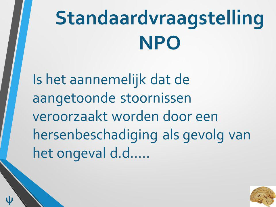 Standaardvraagstelling NPO