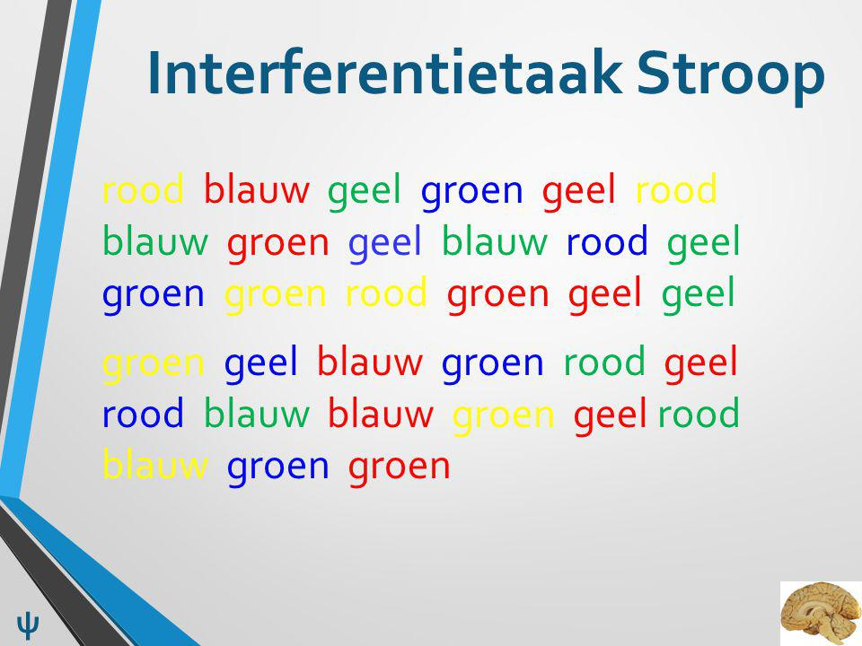 Interferentietaak Stroop
