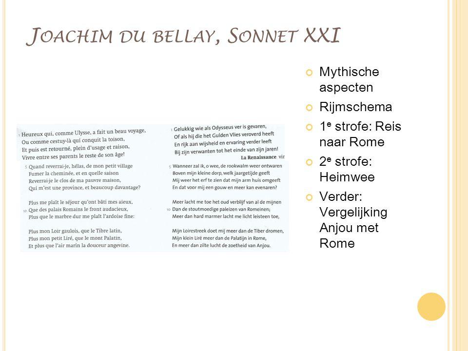 Joachim du bellay, Sonnet XXI