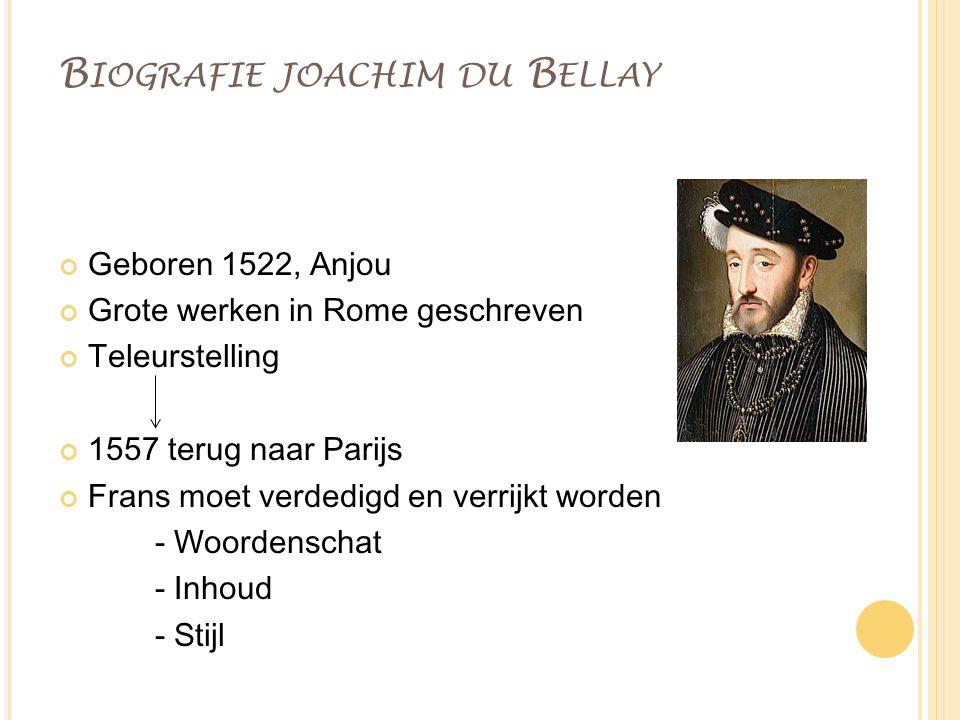 Biografie joachim du Bellay