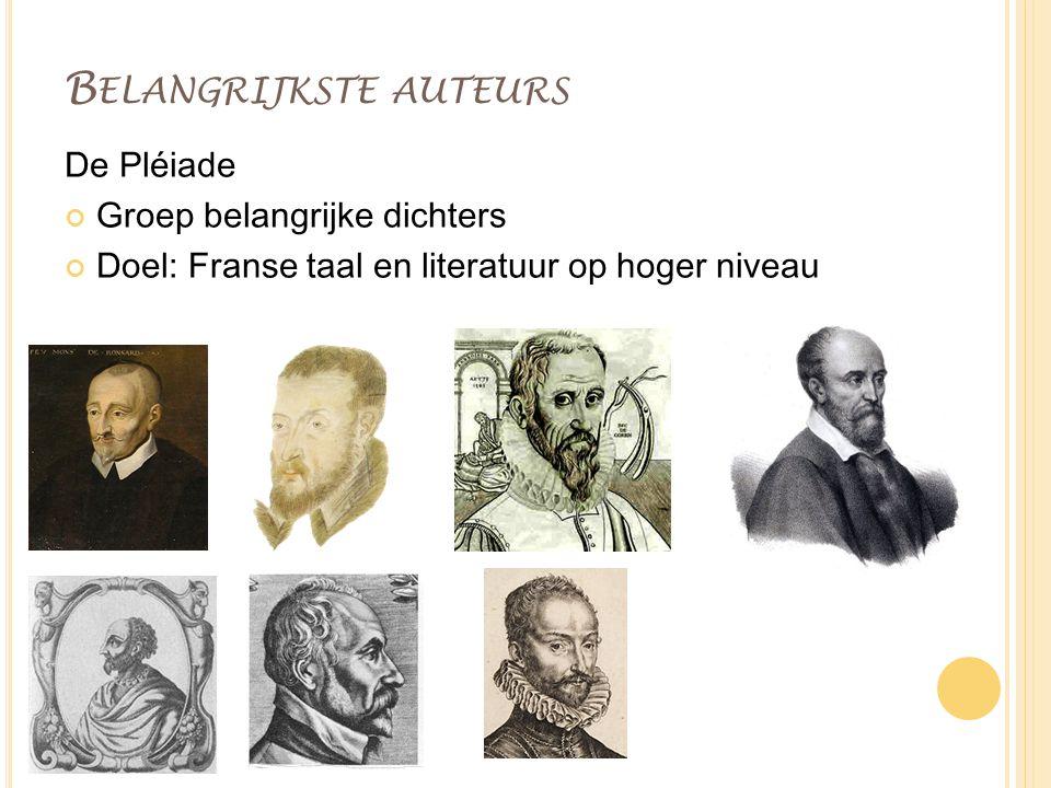 Belangrijkste auteurs