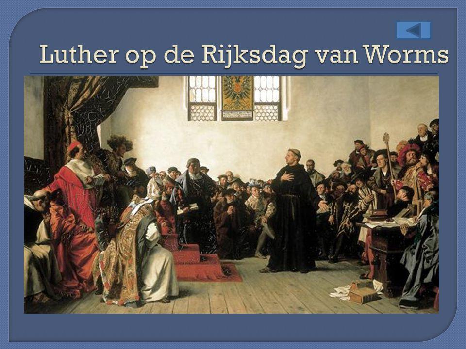 Luther op de Rijksdag van Worms