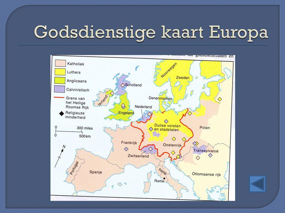 Godsdienstige kaart Europa