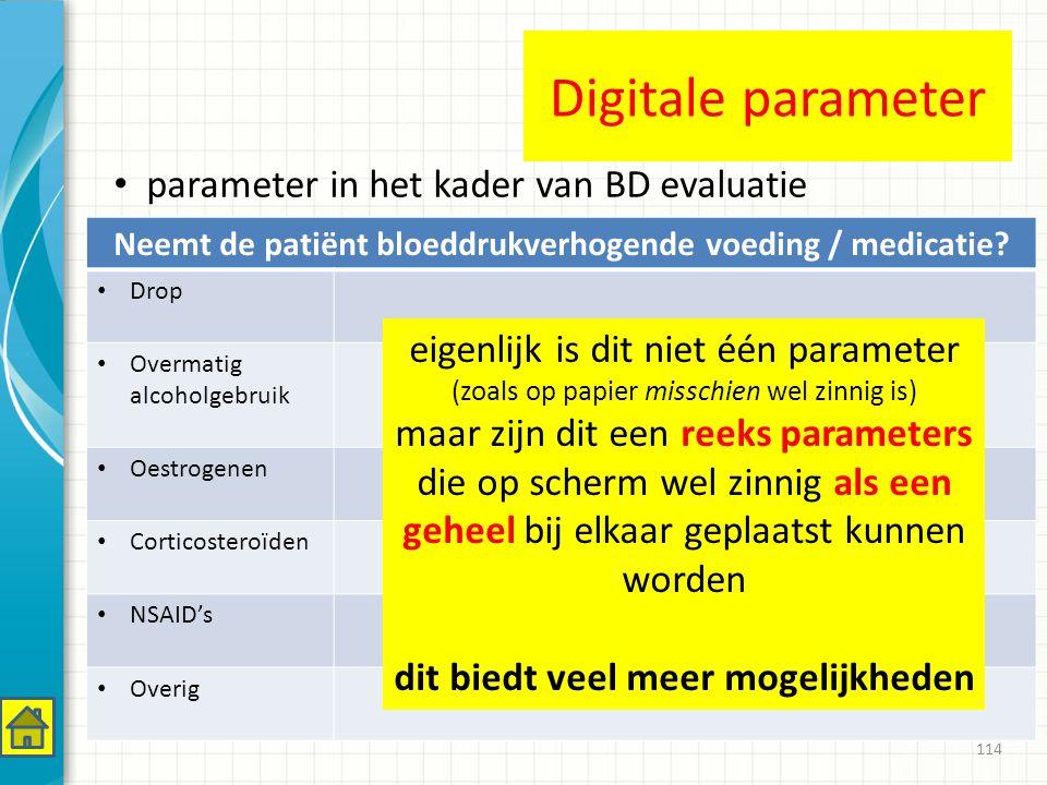 Digitale parameter parameter in het kader van BD evaluatie