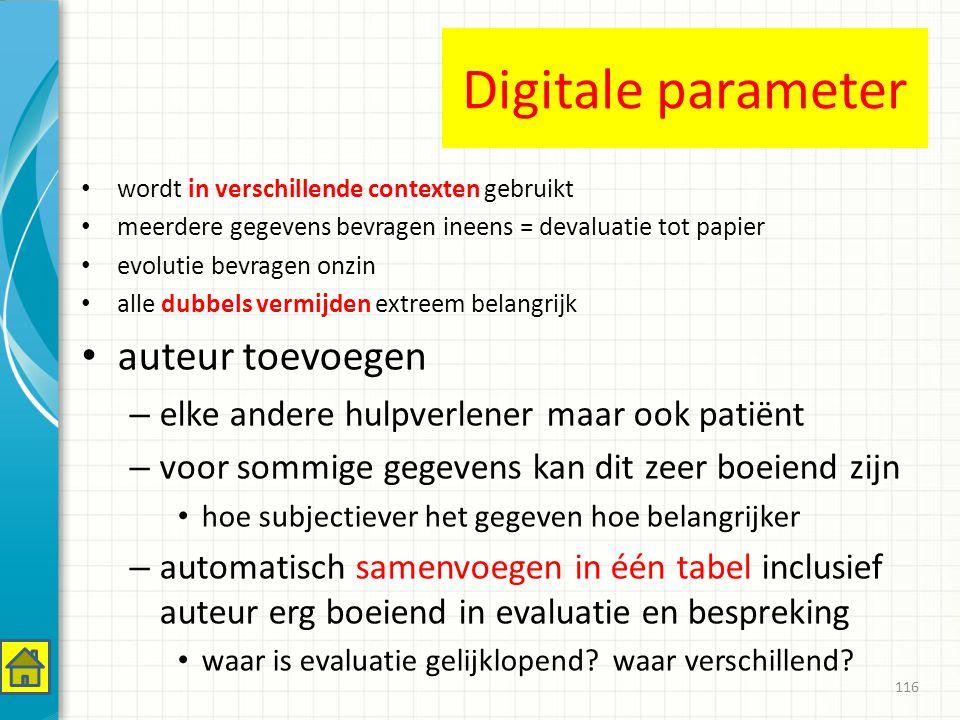Digitale parameter auteur toevoegen