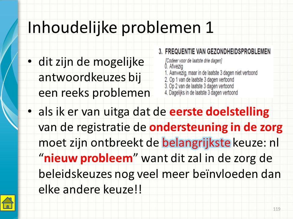 Inhoudelijke problemen 1