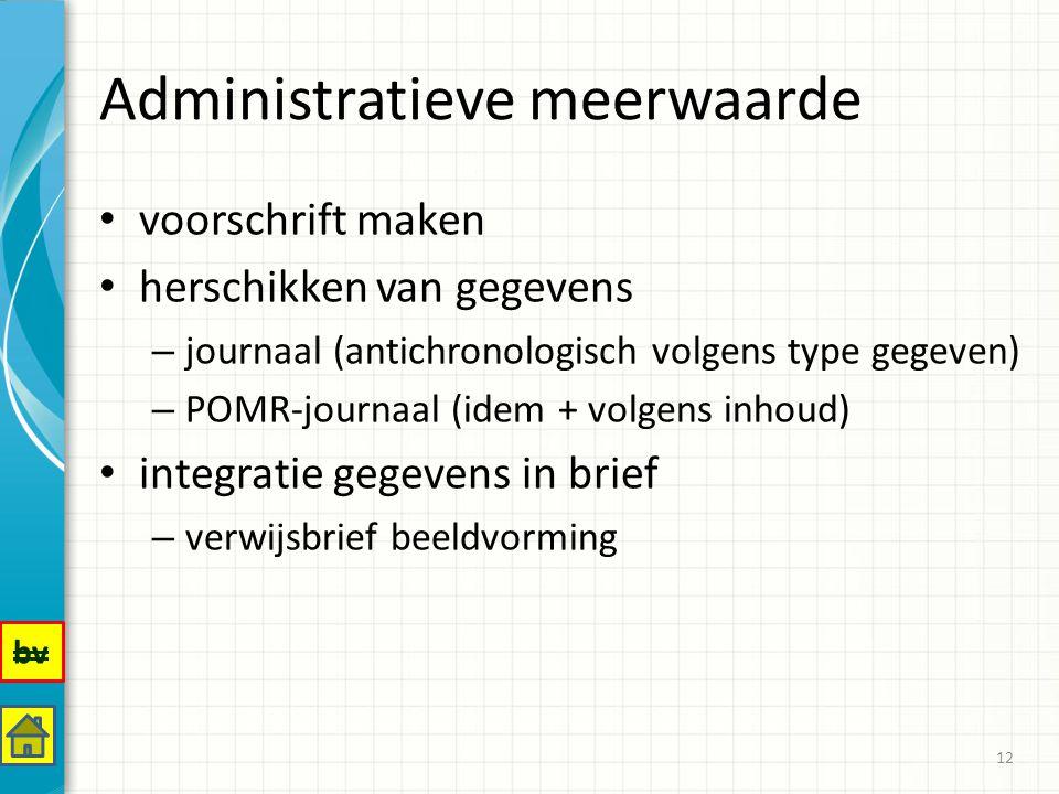 Administratieve meerwaarde