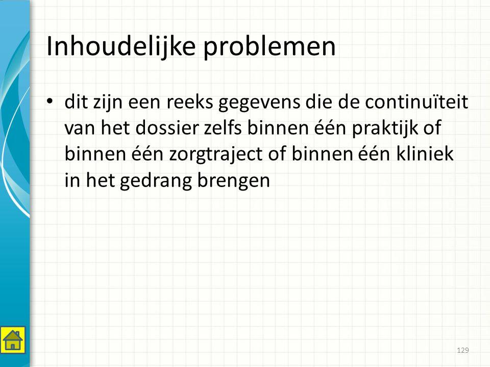Inhoudelijke problemen