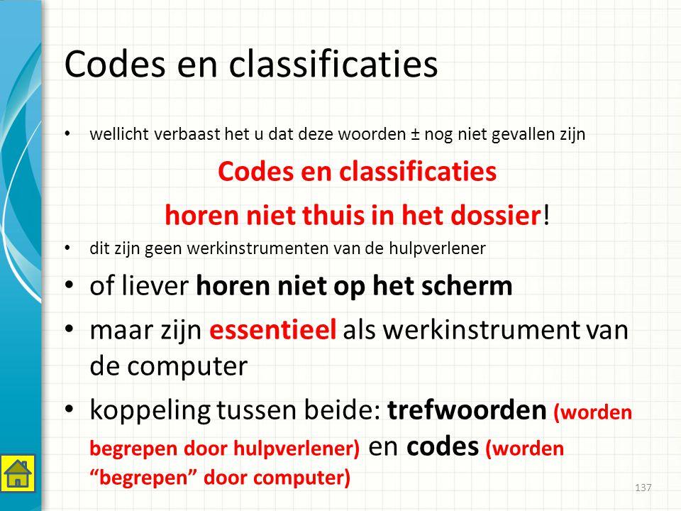 Codes en classificaties