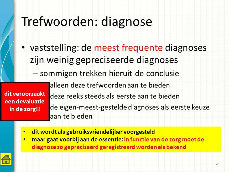 Trefwoorden: diagnose