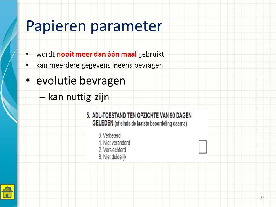 Papieren parameter evolutie bevragen kan nuttig zijn