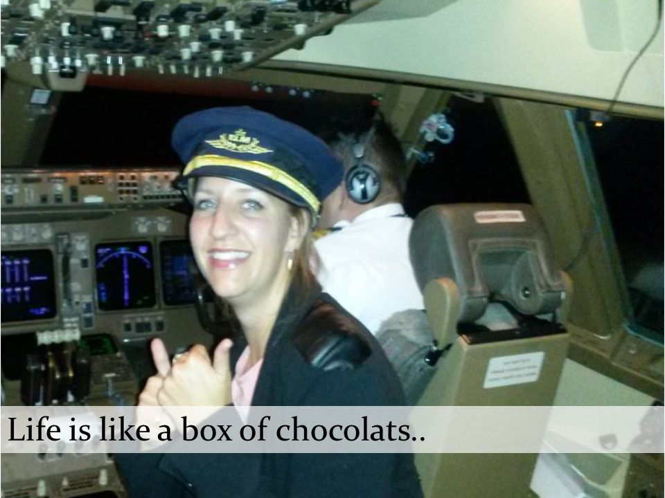 Life is like a box of chocolats..