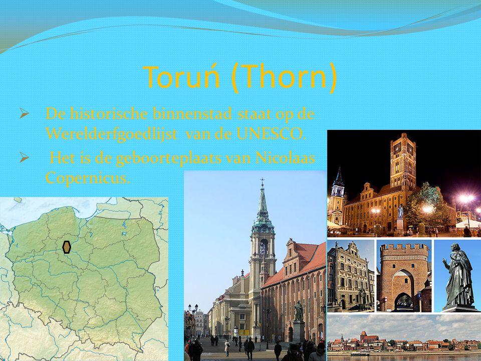 Toruń (Thorn) De historische binnenstad staat op de Werelderfgoedlijst van de UNESCO.