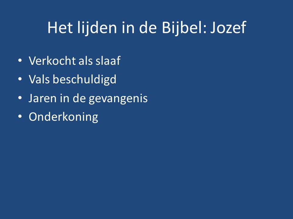 Het lijden in de Bijbel: Jozef