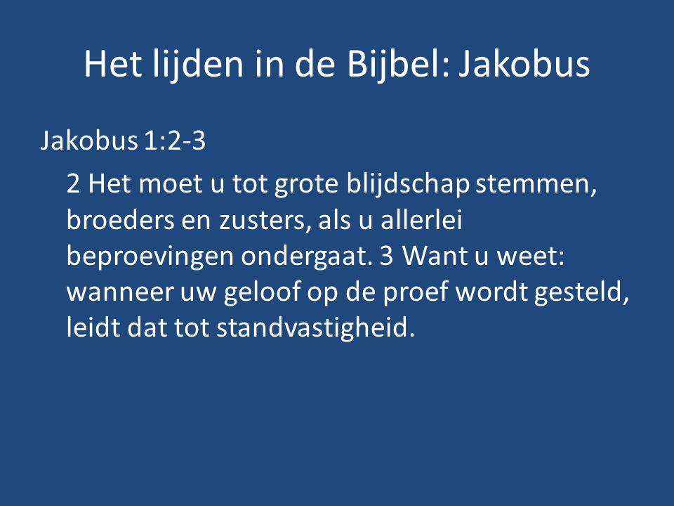 Het lijden in de Bijbel: Jakobus