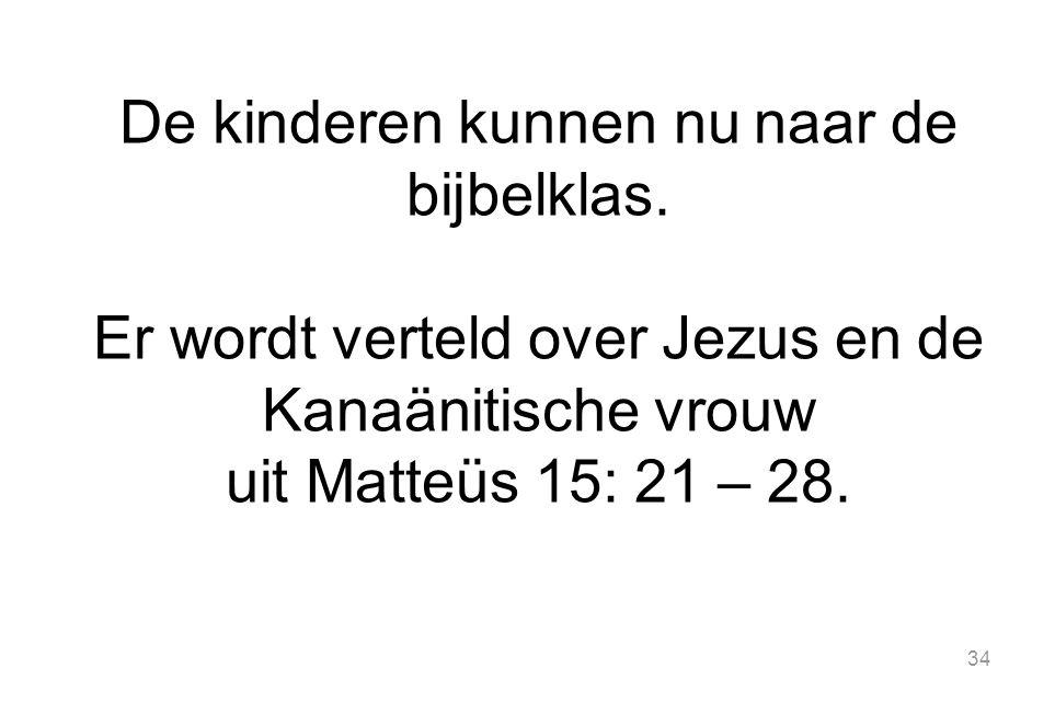 De kinderen kunnen nu naar de bijbelklas