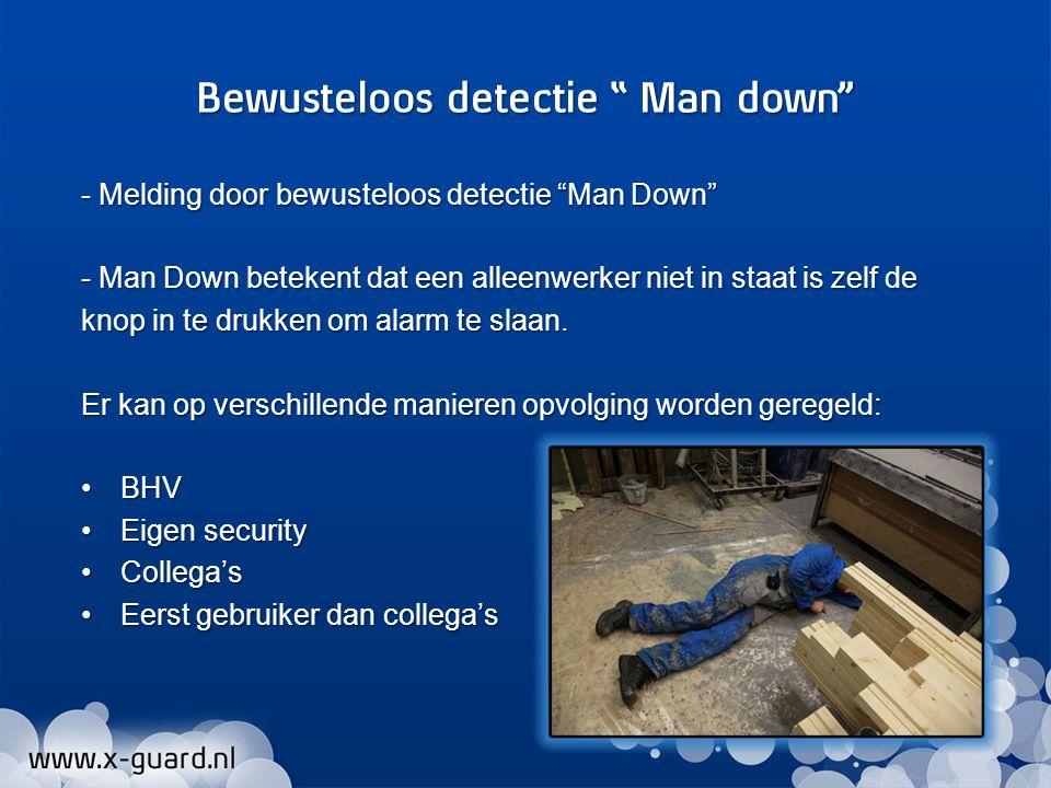 Bewusteloos detectie Man down