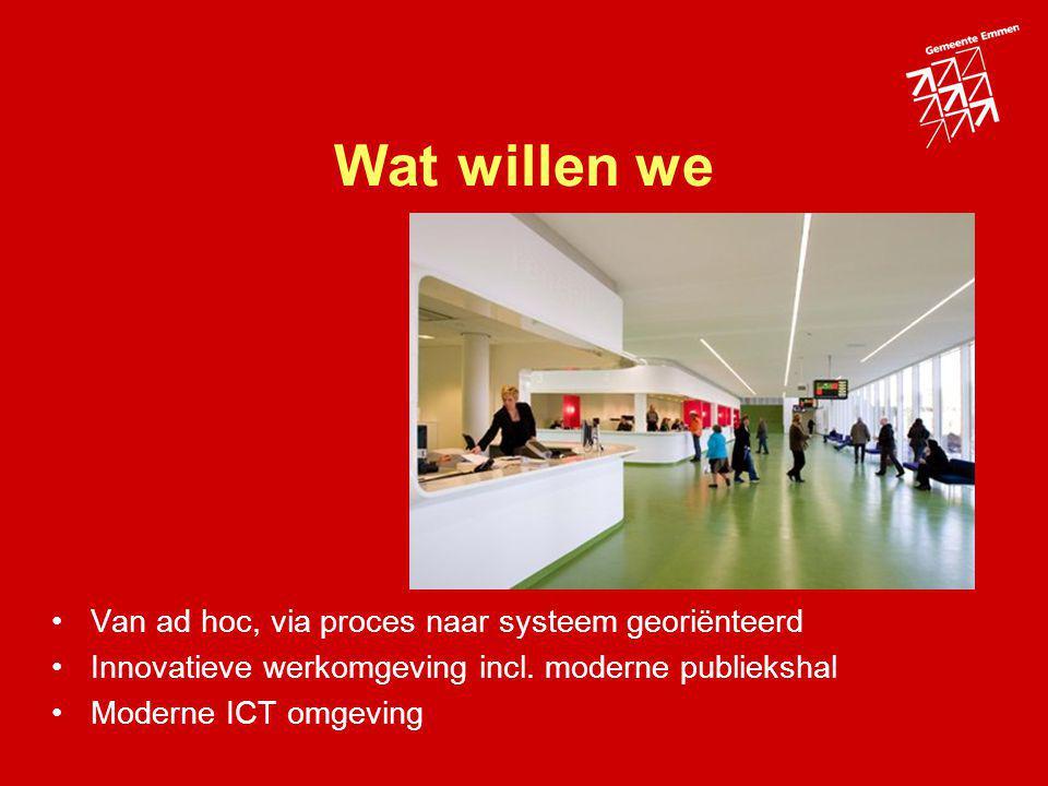 Wat willen we Van ad hoc, via proces naar systeem georiënteerd