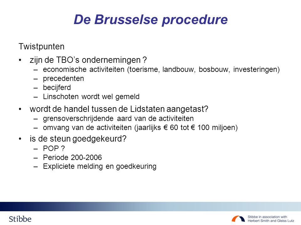 De Brusselse procedure