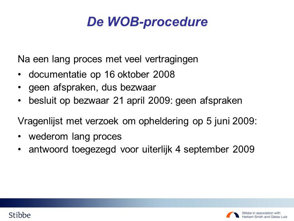 De WOB-procedure Na een lang proces met veel vertragingen