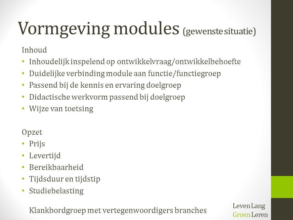 Vormgeving modules (gewenste situatie)