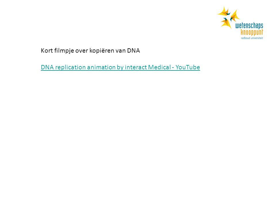 Kort filmpje over kopiëren van DNA