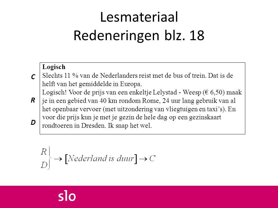 Lesmateriaal Redeneringen blz. 18