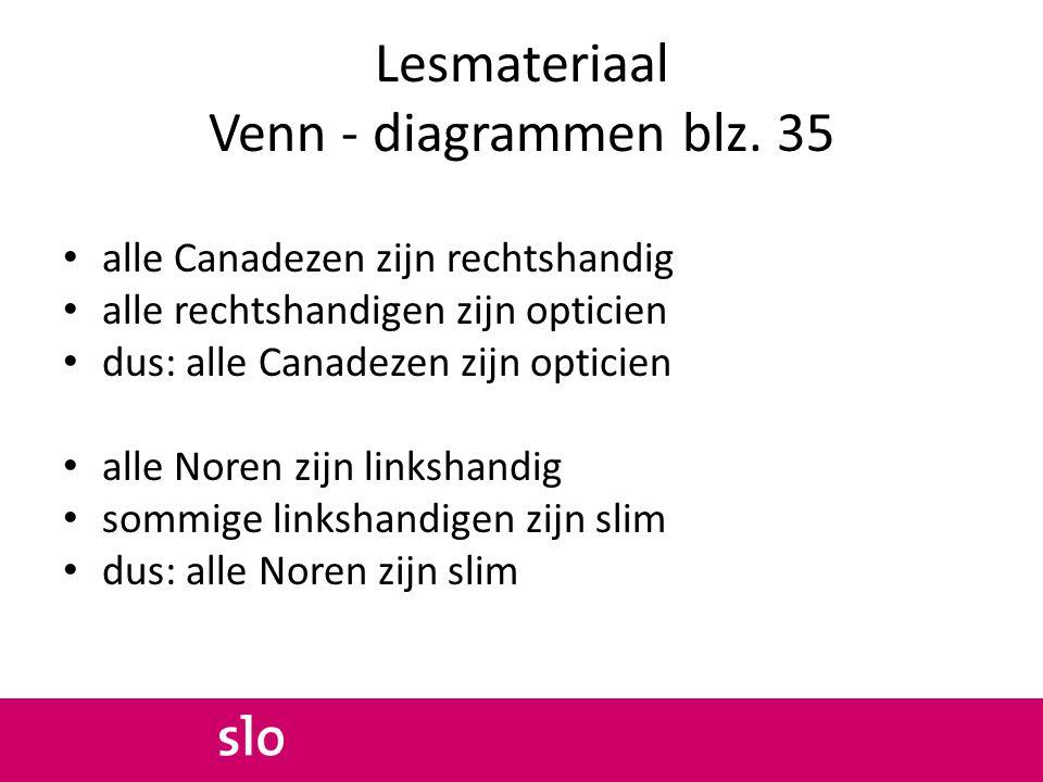 Lesmateriaal Venn - diagrammen blz. 35