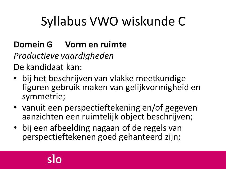 Syllabus VWO wiskunde C