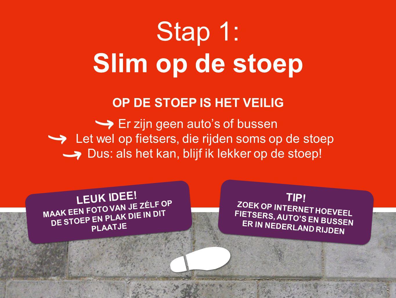 Stap 1: Slim op de stoep OP DE STOEP IS HET VEILIG